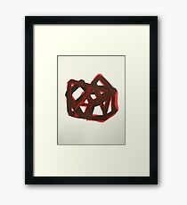 red matrix Framed Print