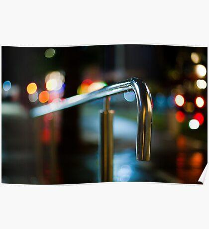 handrail at night Poster