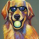 Golden Retriever with Tennis Ball by Ann Marie Hoff