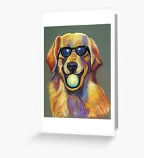 Golden Retriever with Tennis Ball Greeting Card