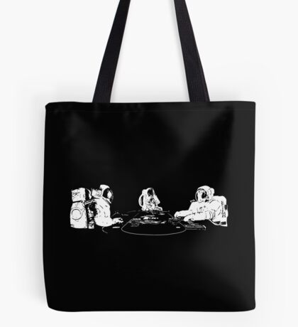 Poker Playing Astronauts Tote Bag