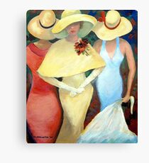 THREE LADIES Canvas Print