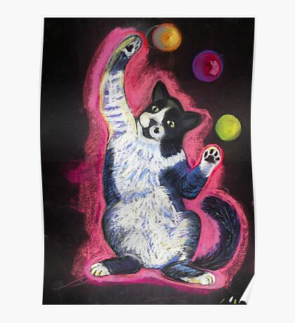 Juggling Cat Poster