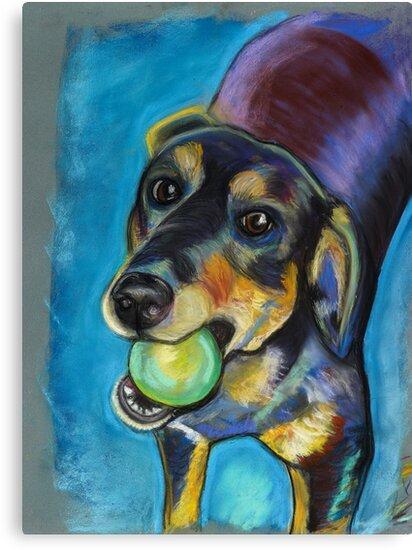 Heinz 57 Black and Tan Dog by Ann Marie Hoff