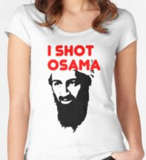 I shot Osama Women's Fitted Scoop T-Shirt
