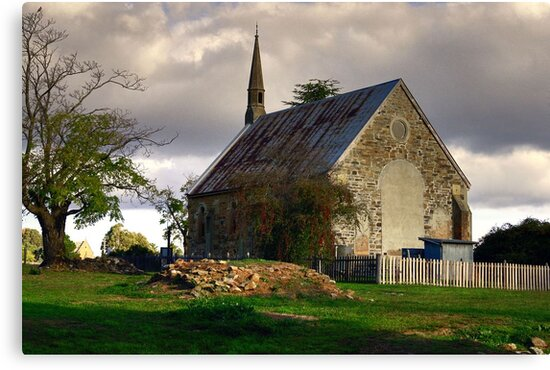 St Paul's Presbyterian Church ~ Hill End NSW by Rosalie Dale