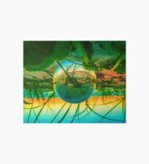 Lensball at beach Art Board Print