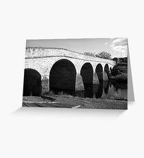 Oldest bridge in Australia-built 1823 - Tasmania  -  B&W Greeting Card