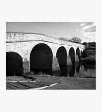 Oldest bridge in Australia-built 1823 - Tasmania  -  B&W Photographic Print