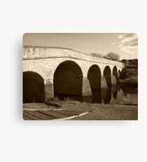 Oldest bridge in Australia-built 1823 - Tasmania  -  sepia Canvas Print