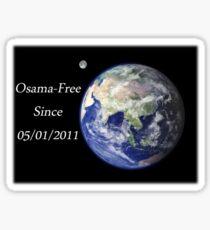 The World - Osama-Free Sticker