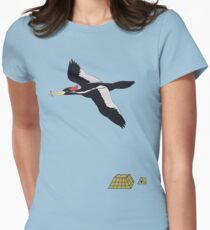 Escape, with Woodpecker Women's Fitted T-Shirt
