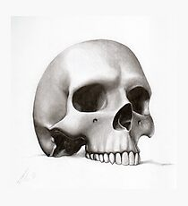 """call me morbid...""  realistic pencil skull Photographic Print"