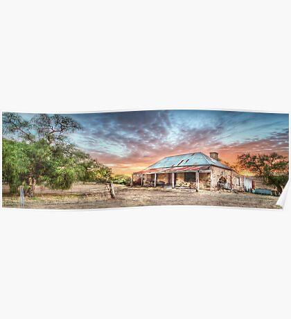 Ruin Of Sunrise Panorama Poster