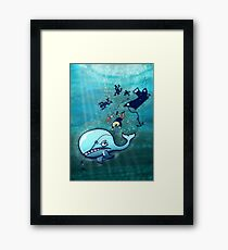 Whales are Furious! Framed Print