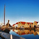 New Harbour in the evening sun by Adri  Padmos