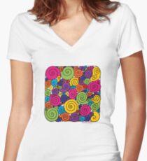 Bubblegum Women's Fitted V-Neck T-Shirt