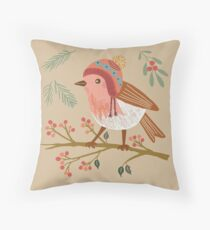 Winter Robin Floor Pillow