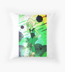 Peridot - Green Throw Pillow