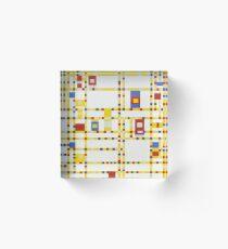 Piet Mondrian-Broadway Boogie Woogie Acrylic Block