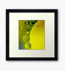 Green Cheese Framed Print