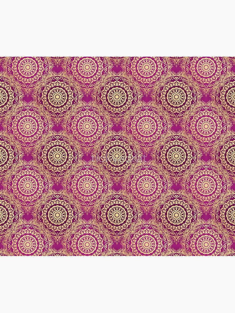 Gold Mandala for Love and Compassion Purple by tiokvadrat