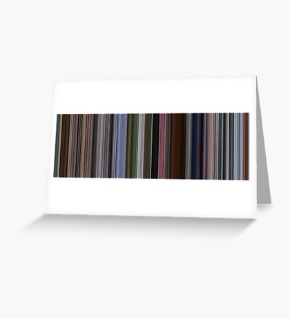 Moviebarcode: Up (2009) [Simplified Colors] Greeting Card