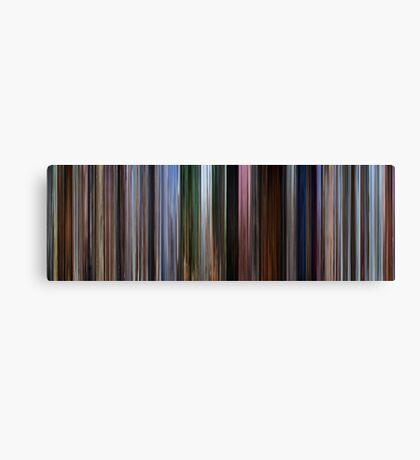 Moviebarcode: Up (2009) Canvas Print