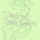 tunnel snakes [back of shirt variant] by thehellagatsby