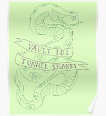 tunnel snakes [back of shirt variant] Poster