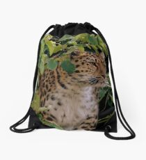Amur Leopard Two Drawstring Bag