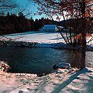 River across winter wonderland | landscape photography by Patrick Jobst