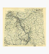 World War II Twelfth Army Group Situation Map March 23 1945 Photographic Print