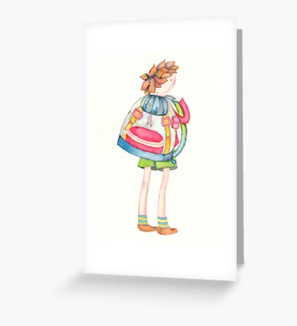 FIRST SCHOOL DAY Greeting Card