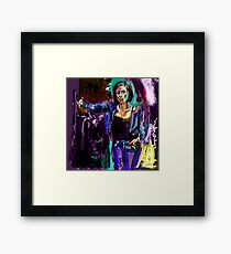 White Hot Mexican Chick Framed Print
