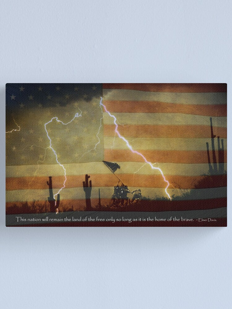 Alternate view of Land of the Free Home of the Brave Canvas Print