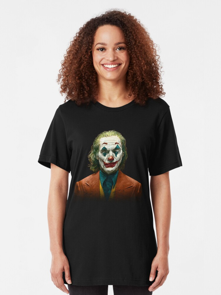 Vista alternativa de Camiseta ajustada Joaquin Phoenix, Joker 2019 Película