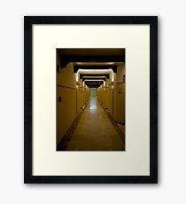 Corridor Patterns Framed Print