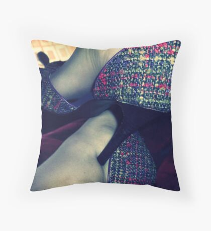 05-03-11:  When In Doubt, Shoes Throw Pillow