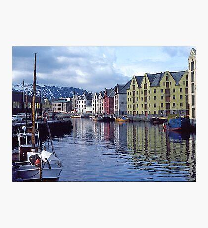 Fishing port, Alesund, Norway. Photographic Print