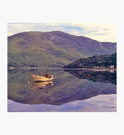 Loch Leven, reflections, Glencoe, Scotland. Photographic Print