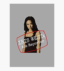 Iris West - Ace Reporter - Central City Picture News Photographic Print