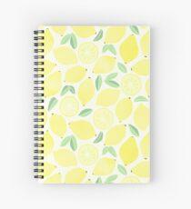 Summer Lemons Spiral Notebook