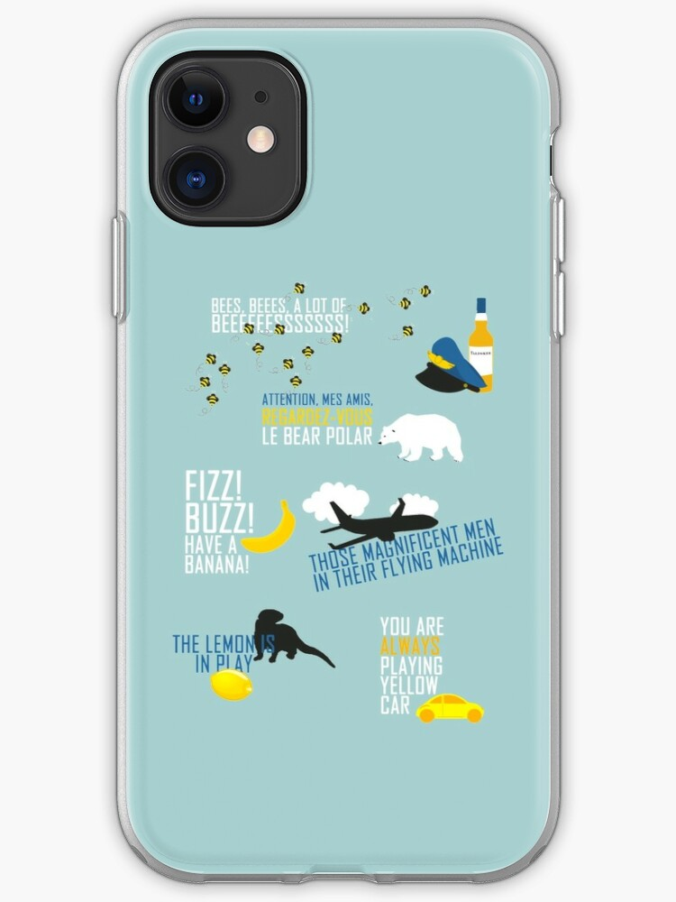 CABIN PRESSURE ALWAYS PLAYING YELLOW CAR iphone case