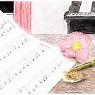 Musical still life by Linda Ursin