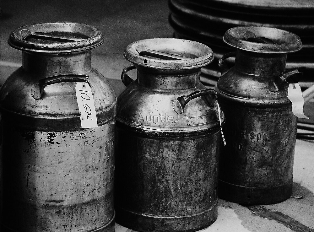 Vintage Milk Cans by AuntieJ