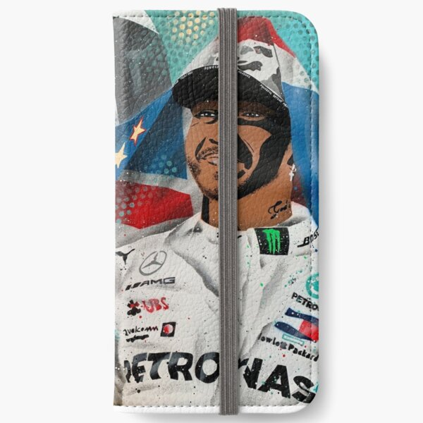 Lewis Hamilton - 6 x Champion painting by DRAutoArt iPhone Wallet
