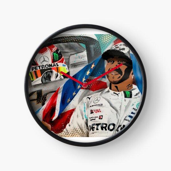 Lewis Hamilton - 6 x Champion painting by DRAutoArt Clock