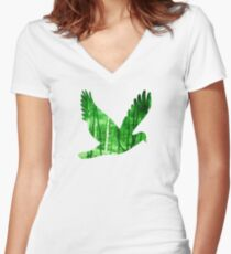Trees - JUSTART © Women's Fitted V-Neck T-Shirt