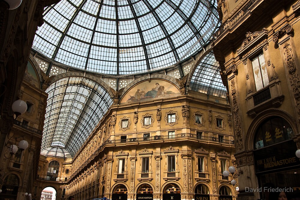 Galeria Victor Emmanuel II, Milano, Italy by David Friederich